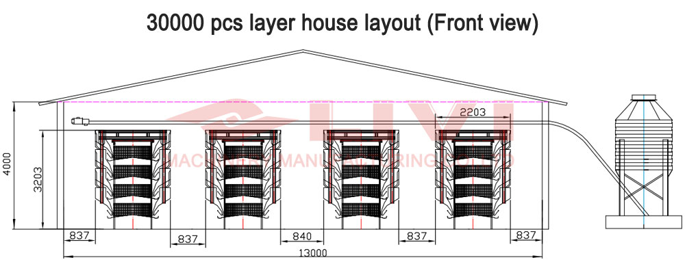 House design drawing for 30000 layers
