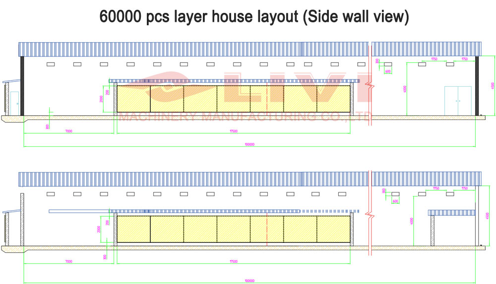 House design drawing for 60000 layers
